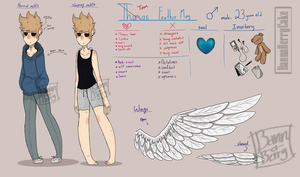 Tom (devil and angel au) ref by BannaBerryCake