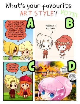 Vote for art style by Pupaveg