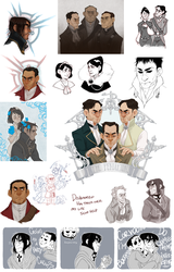 DISHONORED DOODLES by SlackWater