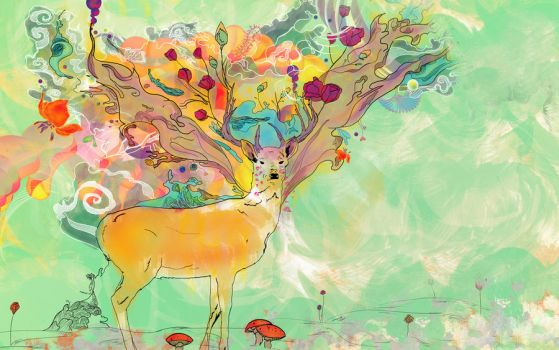 deer by rizred