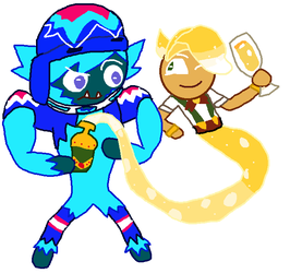 Ice Candy cookie Yeti and Sparkling Cookie Genie by thehypercutter