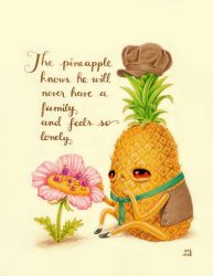 Lonely Pineapple by grelin-machin