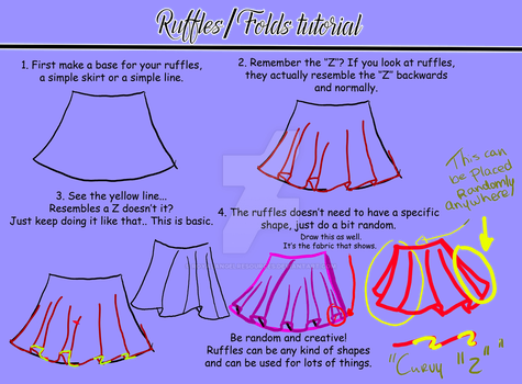 Ruffles/folds tutorial #1 by RoyalAngelResources