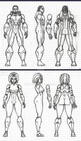 Quinn and Faith Model Sheets by Dualmask