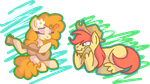 Buttercup and Bright Mac Scribbles by tuppkam1