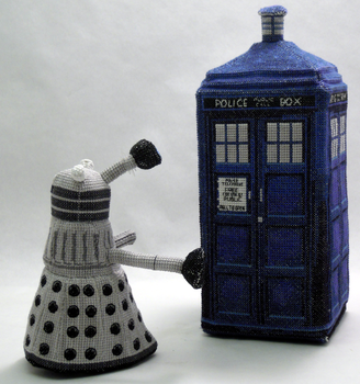 Dalek 3D Cross Stitch Doll by rhaben
