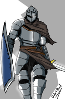 Humble Foot Knight by OdinPencil