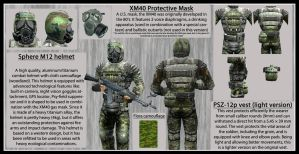 Skat-9 military armoured suit technical sheet by DrJorus