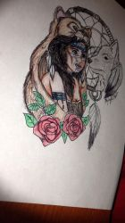 Native American/Indian Drawing by KaylaMarie831