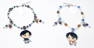 Attack on Titan Beaded Charm Bracelets by jordannamorgan