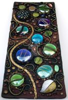 Tall Mosaic tile polymer clay by MandarinMoon