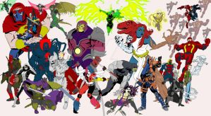 Alll New 52 Amalgam Now Bad Guys by Needham-Comics