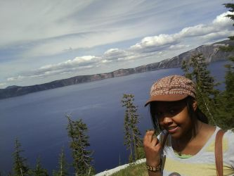 Me and the view of Crater Lake by msmshoi