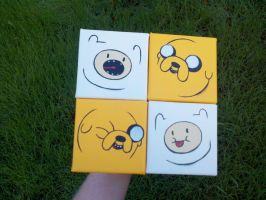 Finn and Jake opening faces by Dorigard
