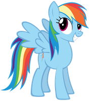 Excited Rainbow Dash by batbow