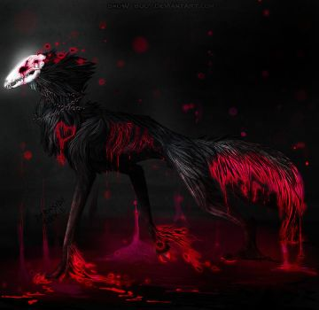 Collab: Skull Wolf by Snow-Body