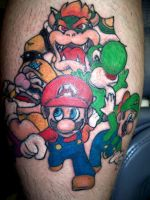Mario Brothers by chachainsaw