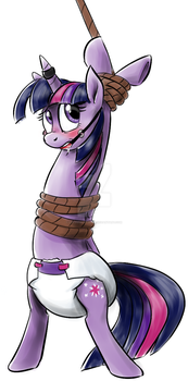 Twilight Sparkle diapered and in bondage by Nutty-Nutzis