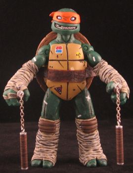 Mike Dialynas style Mikey TMNT by plasticplayhouse