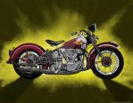 Classic Harley Re-paint by steverino365