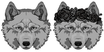 Wolf Gif -YCH headshot-Slots 3$/300 points- OPEN by Bunnior