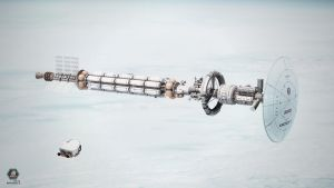 Kronos 1 in Low Earth Orbit by MacRebisz