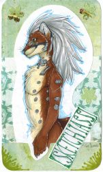 Badge thingy with Sketchiass by Suane
