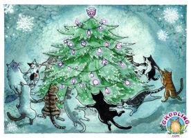 Catmas Tree by liselotte-eriksson