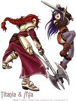 Fire Emblem Titania and Mia by Meibatsu