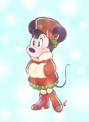 Winter Minnie by Twinkel13