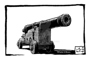 Daily Drawing 0008 - Cannon of 7 by Amarynceus