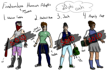 Fandomless Human Adopts (OPEN) by Robo-SketchTech