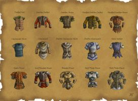 DS: Armors by willowWISP