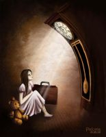 waiting by the clock by palomi