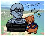 The adventures of Husk Head and hamster Shepard by elila