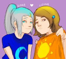 Diana and Leona by KindCoffee