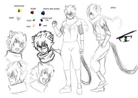 Kenji Character Sheet by Imbriaart