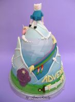 Adventure Time Cake front by ginas-cakes