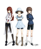 Steins Gate - Females by Captain-of-Crunch