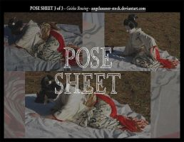 POSE SHEET 3 of 3: Geisha Fallen by themuseslibrary
