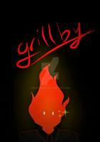 Grillby by briethebee