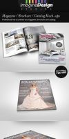 Photorealistic Brochure / Magazine Mock-up by idesignstudio