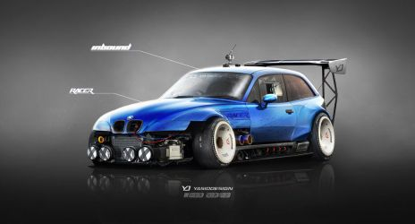 BMW Z3 M Inbound Racer V2 BLUE by yasiddesign