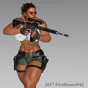 Playing With Belle 001: Cosplay Lara Croft by FireHonest942