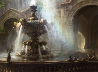 Radiant Fountain by AdamPaquette