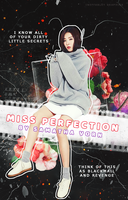 [ Wattpad Cover ] - Miss Perfection by ineffablely