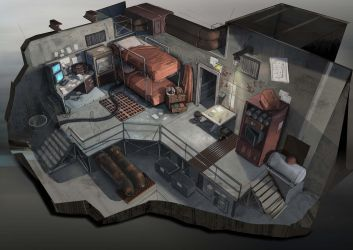 Living quarters interior by Coolb3rt