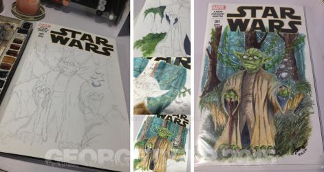 Marvel Star Wars #1 Sketch Cover Yoda by 3DXStudios