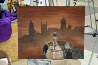 wine still life oil by onedose