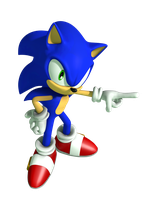 Sonic Points in the Rightward Direction by DoodleyStudios
